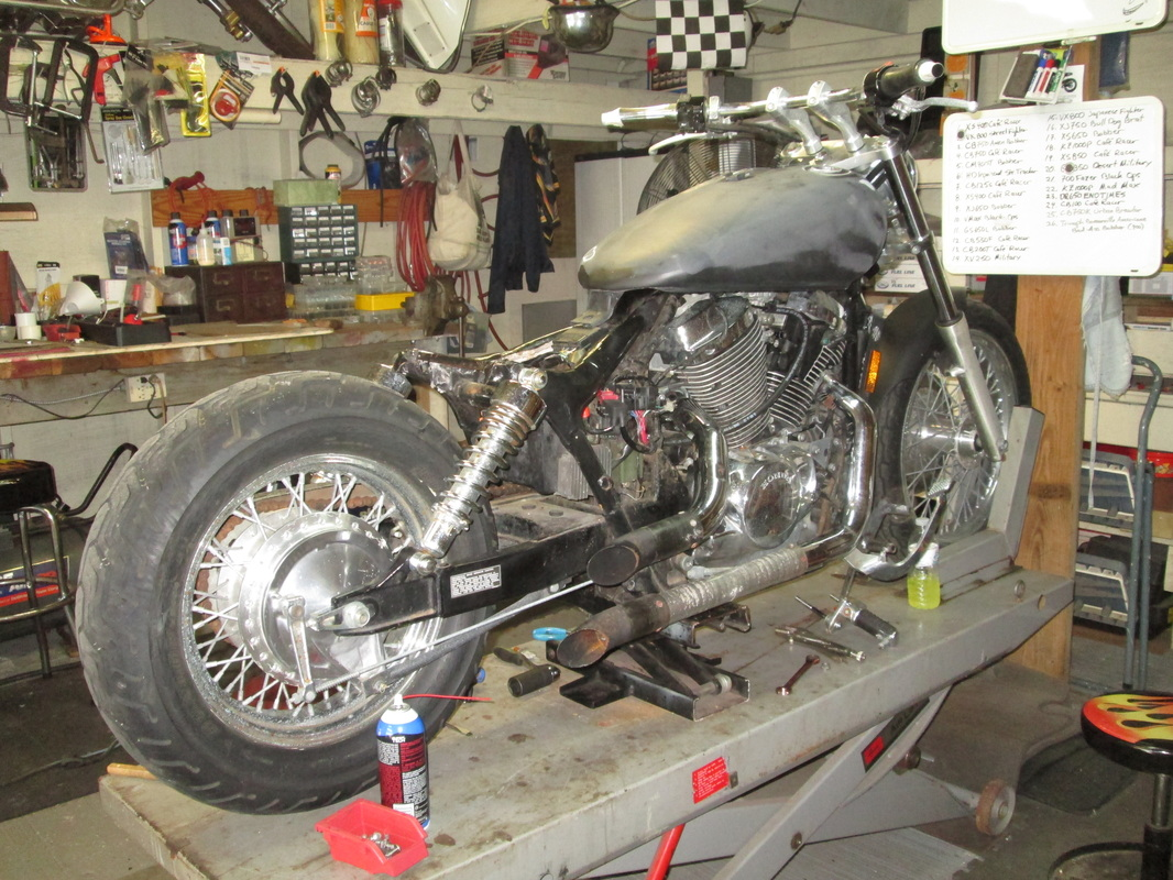 2001 Honda 750 Shadow Hard Tail Bobber Bare Bone Rides Fuel Filter Pause